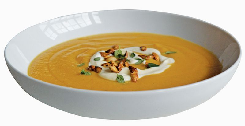 Butternut squash and red lentil soup