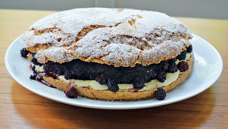 Blackberry and Clotted Cream Shortcake