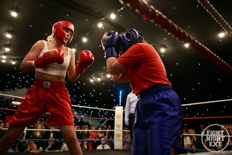 Tamsin Beech in her first ever boxing match