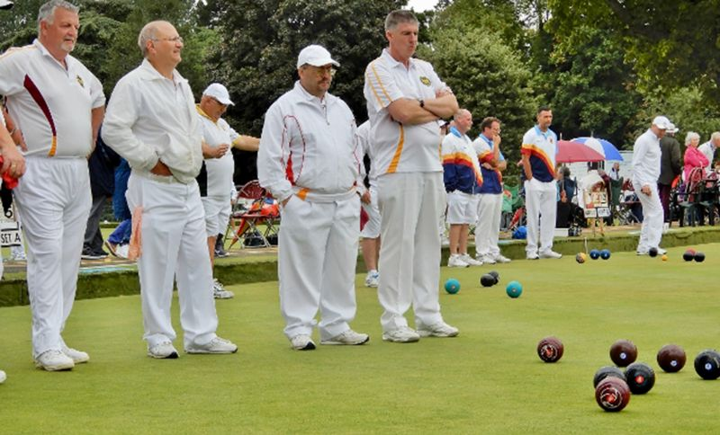From left, Brian Packer, Keith Hinder, Brian Burleigh and Dave Smith  representing Gloucestershire in the National Championships at Royal Leamington Spa last year