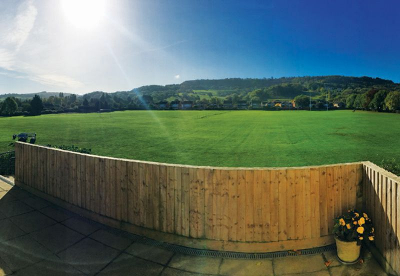 A view of Leckhampton Hill from Old Patesians Sports and Social Club