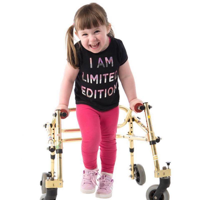 Amelia-Rose has hereditary spastic paraplegia
