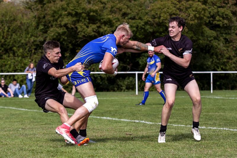 Joe Uren, right, was All Golds' star performer against Torfaen Tigers. Picture, Lewis Mitchell