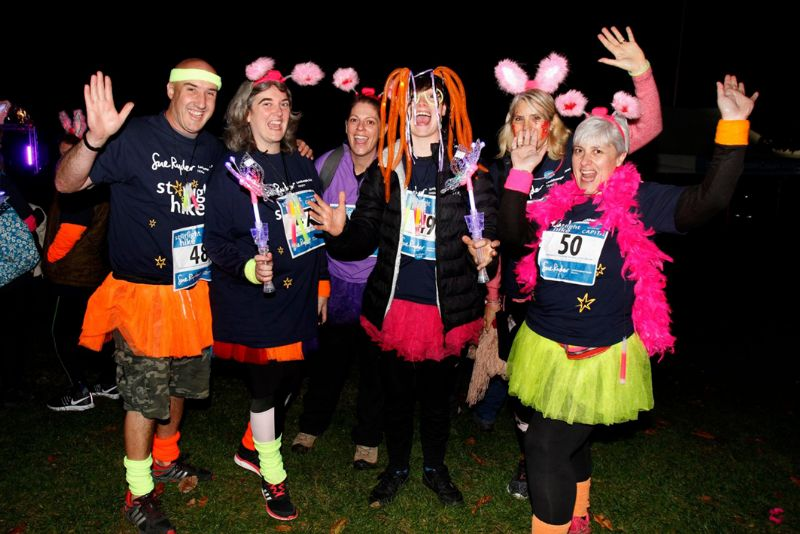 Participants at last year's Starlight Hike for Sue Ryder Leckhampton Court Hospice, which raised £60,000 to help Sue Ryder Nurses and care teams provide expert and compassionate palliative care for Gloucestershire families