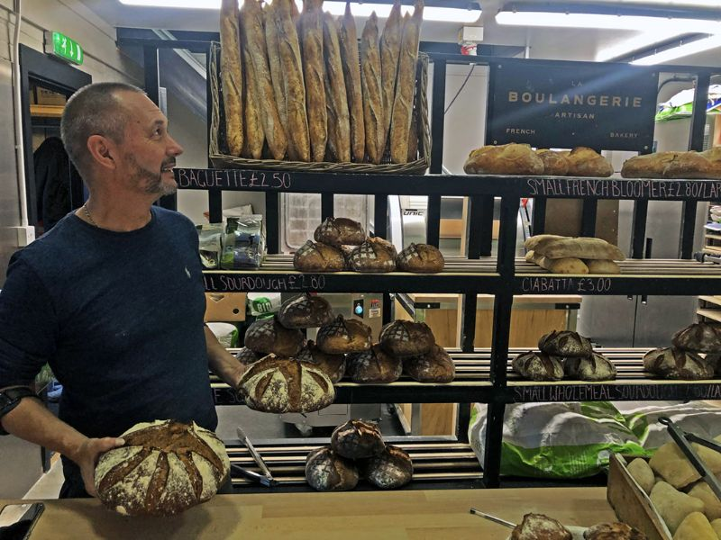 Ralph Saint Rose with a selection of La Boulangerie Artisan products