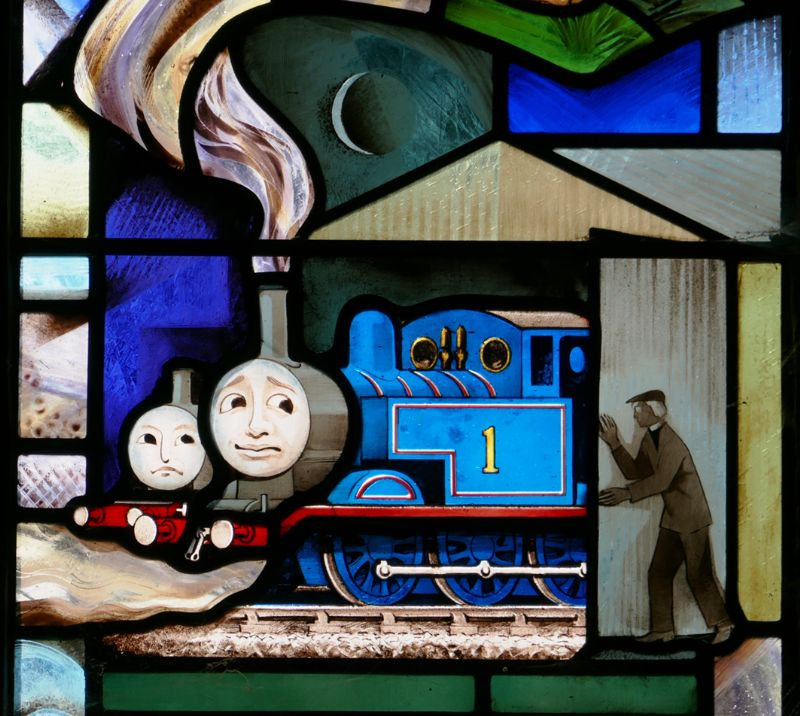 The 'Thomas the Tank Engine' stained glass window