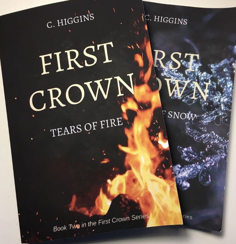 Callum's first two novels – 'First Crown: Malice of Snow' and 'First Crown: Tears of Fire'