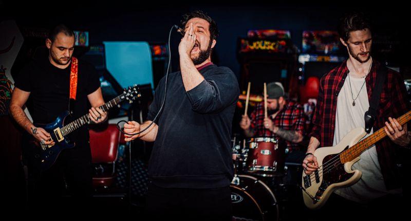 THIEVES (L-R) Conor, Matthew, Matt and Harrison. Photo: Dean Rhodes.