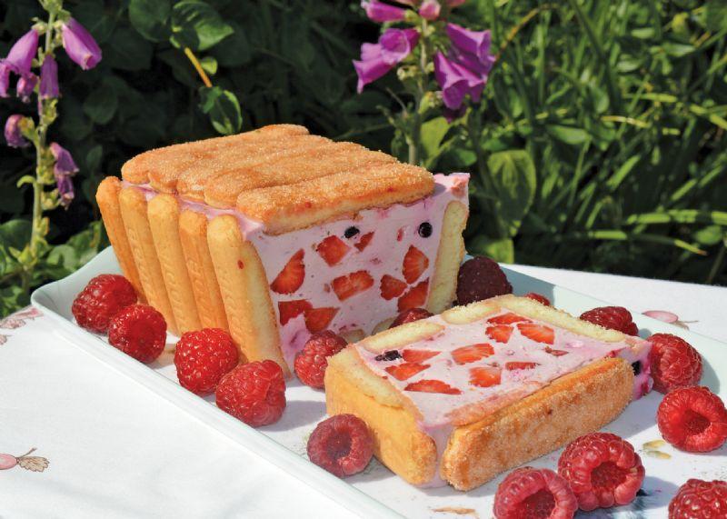 Summer fruit charlotte