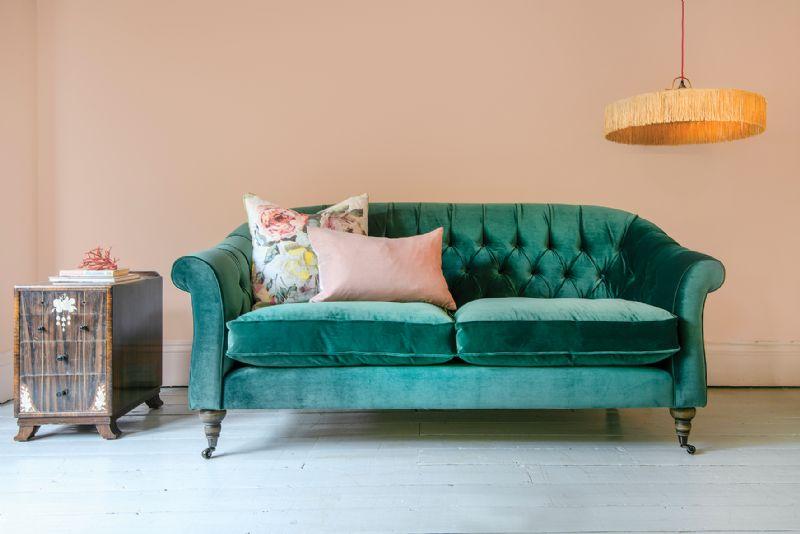 Abbotsbury 3 Seater Sofa in Portland Velvet Teal