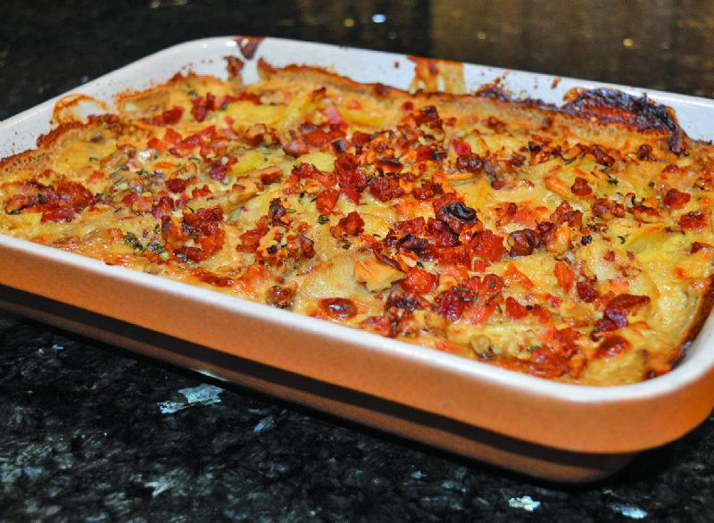 Parsnip and potato gratin