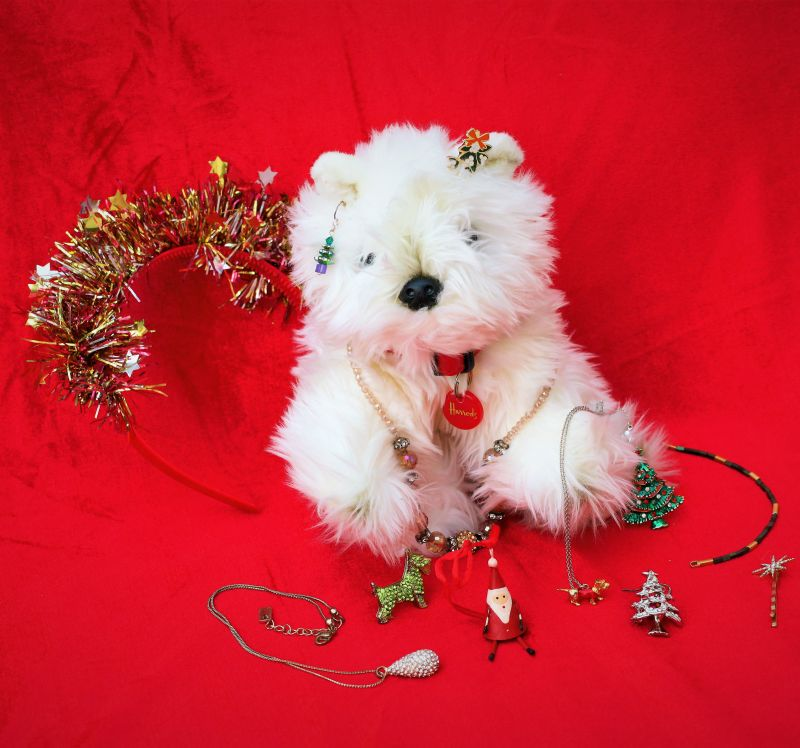 A selection of handmade Christmas jewellery