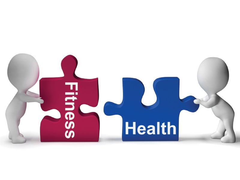 Health and fitness puzzle piece icon