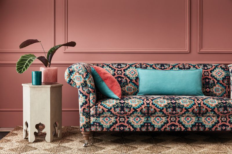 Sofa pattern Linwood colourful